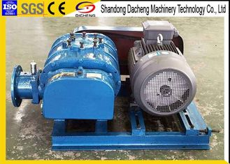 China Colored Twin Lobe Roots Blower , OEM Service Sewage Treatment Plant Blower supplier