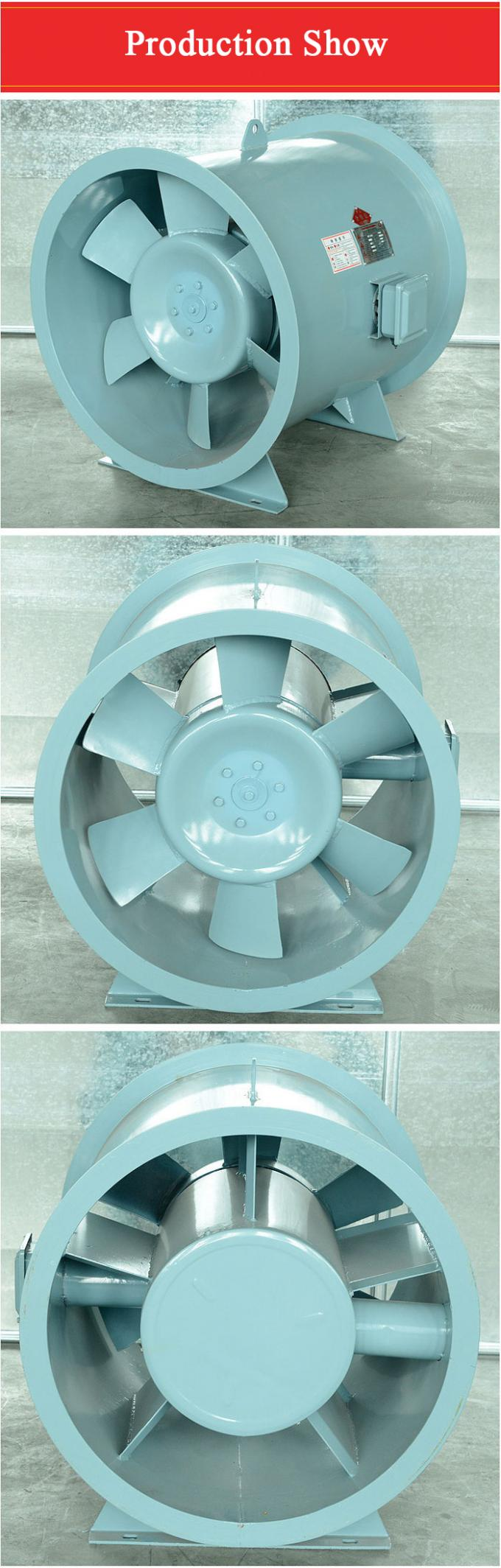 Large Flow Hot Air Axial Ventilation Fan High Temperature Fire Smoke Exhaust